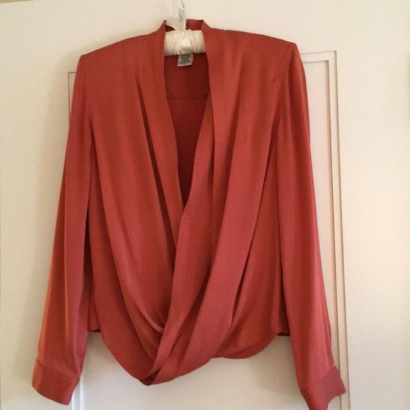 b335e58df03af0 Diane Von Furstenberg Tops - DVF silk wrap blouse